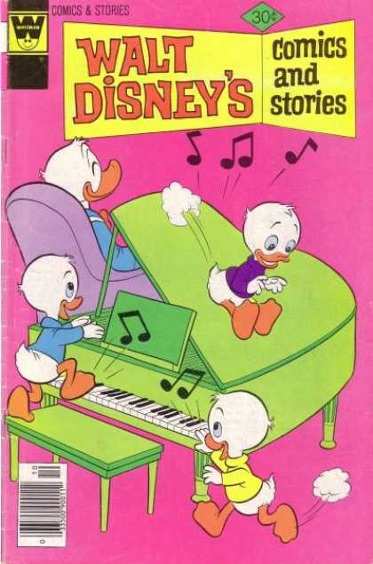 Walt Disney's Comics and Stories 445 - Piano - Huey Duey Luey - Donald Duck - Purple Chair - Music