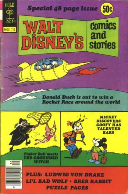 Walt Disney's Comics and Stories 447 - Donald Duck - Rocket Race - Tinker Bell - The Grounded Witch - Talented Ears