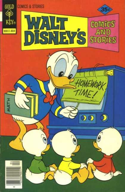 Walt Disney's Comics and Stories 451 - Donald Duck - Gold Key - Math Books - Homework Time - Comics And Stories