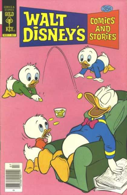 Walt Disney's Comics and Stories 454 - Playful - Childish - Fun - Ducks - Cartoon