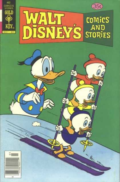 Walt Disney's Comics and Stories 462 - Gold Key - Donald Duck - Ski - Snow - Beanie