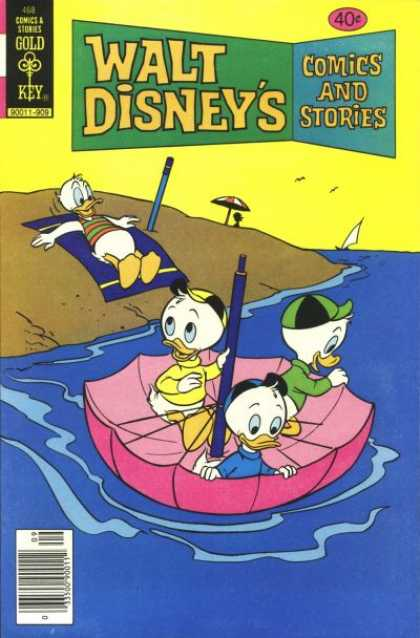 Walt Disney's Comics and Stories 468 - Gold Key - Umberlla - Uncle Curse - Ship - River