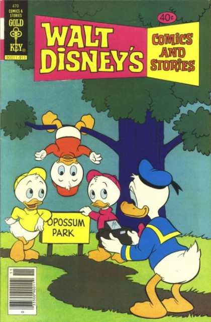 Walt Disney's Comics and Stories 470 - Donald Duck - Opossum Park - Camera - Tree - Huey