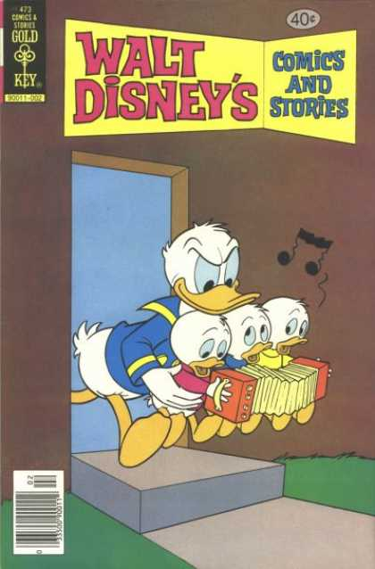 Walt Disney's Comics and Stories 473 - Huey Duey And Luey - Donald Duck - Gold Key Stories - Bad Musical Duckies - Uncle Donald And His Three Nephews