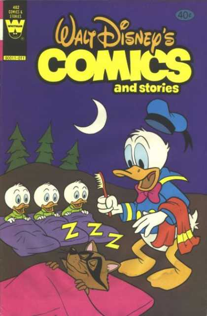 Walt Disney's Comics and Stories 482 - Donald Duck - Sleeping Bags - Crescent Moon - Raccoon - Toothbrush