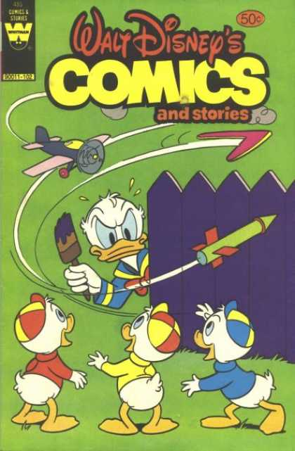 Walt Disney's Comics and Stories 485 - Rocket - Plane - Boomerang - Painting Brush - Fence
