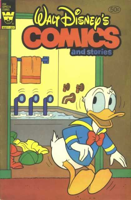 Walt Disney's Comics and Stories 494 - Duck - Submarine - Towels - Bath - Tub