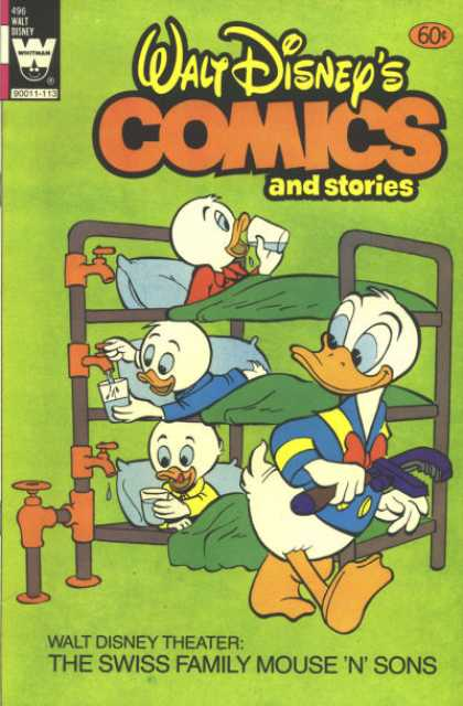 Walt Disney's Comics and Stories 496 - Donald Duck - Huey - Duey - Luey - Water