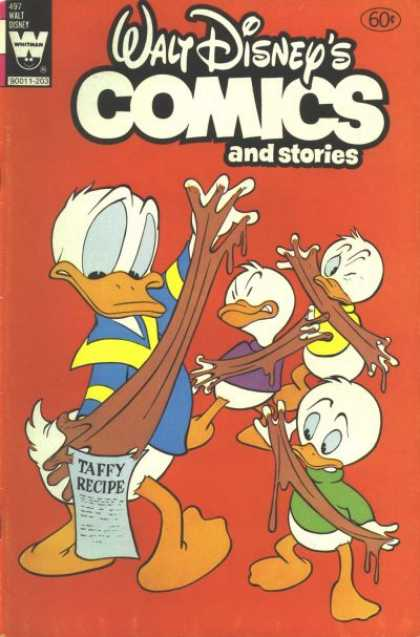 Walt Disney's Comics and Stories 497 - Ducks - Taffy - Sticky - Colorful Outfits - Messy