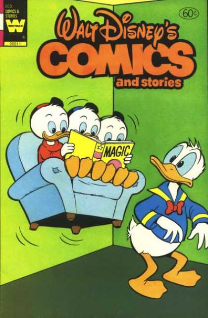 Walt Disney's Comics and Stories 503 - Whitman - Disney - Huey - Dewey - Louie