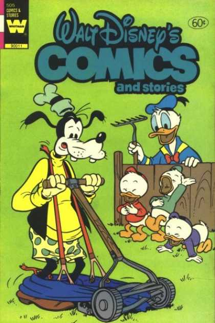 Walt Disney's Comics and Stories 505 - Goofy - Donald - Rake - Lawn Mower - Pants