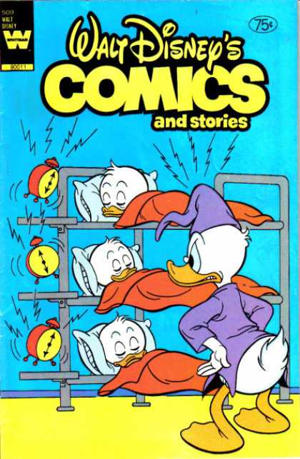 Walt Disney's Comics and Stories 509 - Scrooge Mcduck - Alarm Clocks - Sleeping - Bunk Bed - Pillows