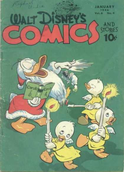 Walt Disney's Comics and Stories 64 - Candles - Carols - Wings - Baton - Santa Suit