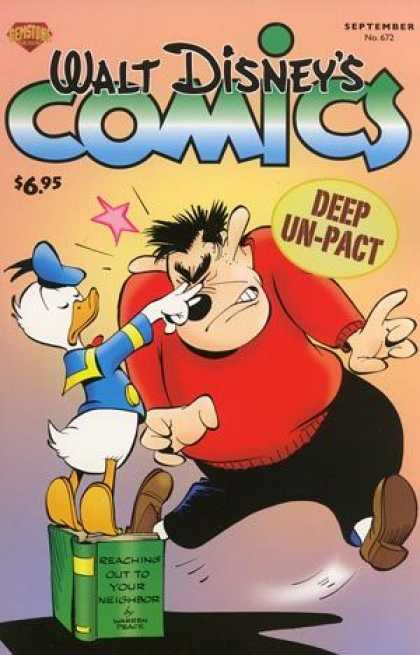 Walt Disney's Comics and Stories 672 - Walt Disney - Donald Duck - Deep Un-pact - Reaching Out To Your Neighbor - Poke In Eyes
