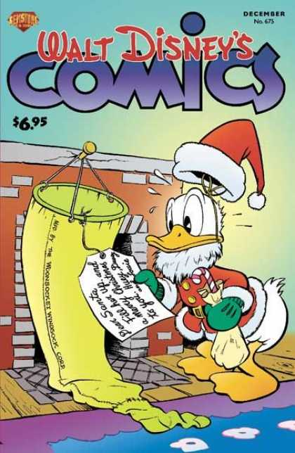 Walt Disney's Comics and Stories 675 - Trip To Heavens Part 3 - Santa Duck - Giggles - Christmas Fun - A Duck Confused