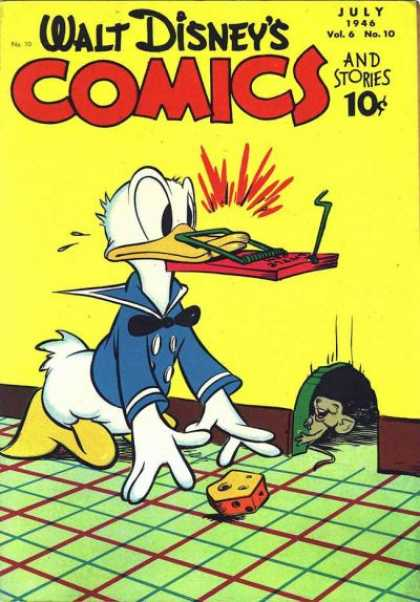 Walt Disney's Comics and Stories 70 - Donald Duck - Mouse - Cheese - Mouse Trap - Mouse Hole