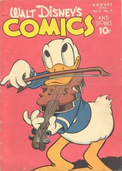 Walt Disney's Comics and Stories 71 - Donald - Duck - Violin - Yellow Bill - August