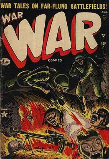 War Comics 11 - Soldiers - Fire - Trench - Guns - Atlas