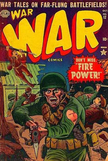 War Comics 12 - Rifle - Killing - Knife - Green Soilders - Brown Soilders