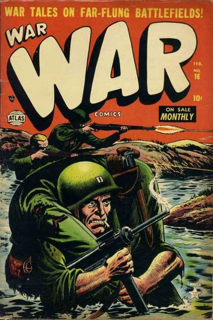 War Comics 16 - War Tales - Soldier - Gun - Fire - Water