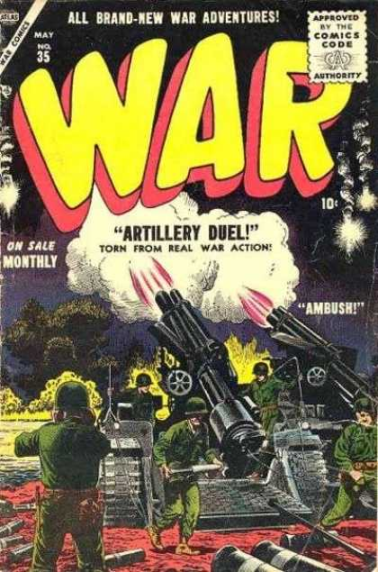 War Comics 35 - Artillary Duel - War Adventures - Combat - Military Forces - Real Action