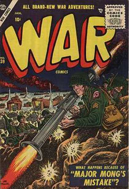 War Comics 39 - Approved By The Comics Code - Soldier - Man - All Brand-new Stories - Jan