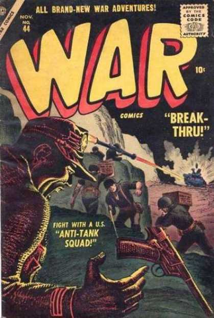 War Comics 44 - Adventures - Break-thru - Tanks - Bazooka - Soldiers
