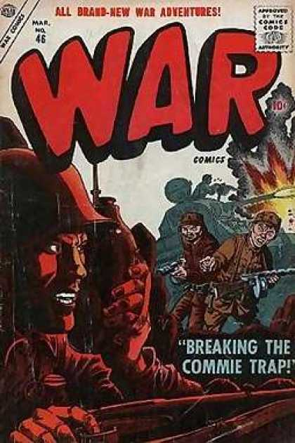 War Comics 46 - Soldiers - Tank - Guns - Explosion - Breaking The Commie Trap