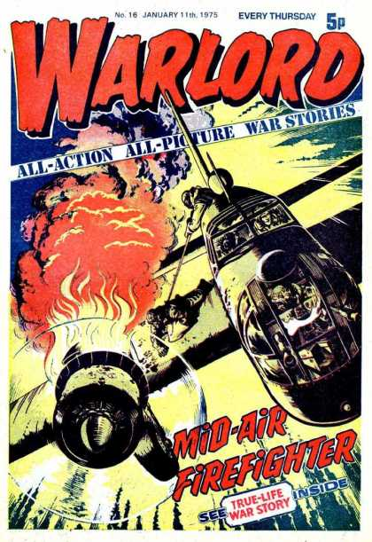 Warlord (Thomson) 16 - Every Thursday - Plane - Fire - All-action - All-picture