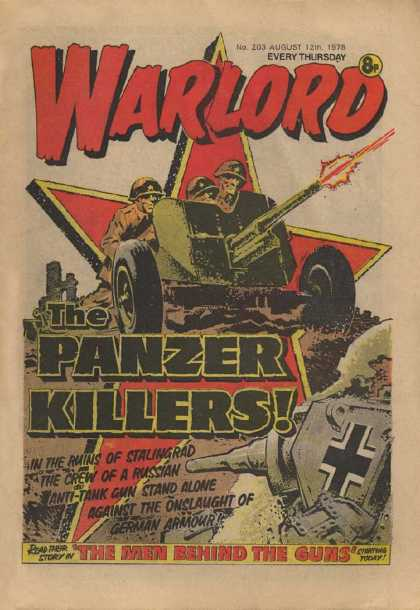 Warlord (Thomson) 203 - The Panzer Killers - The Man Behind The Guns - Tank - Star - German
