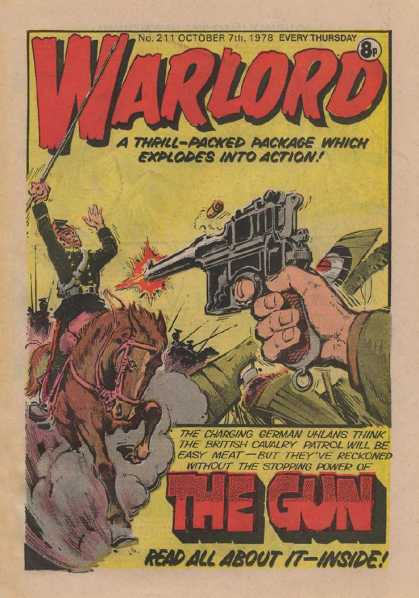 Warlord (Thomson) 211 - Horseman - A Thrill Packed Package - Explodes Into Action - The Gun - British Calvry Patrol