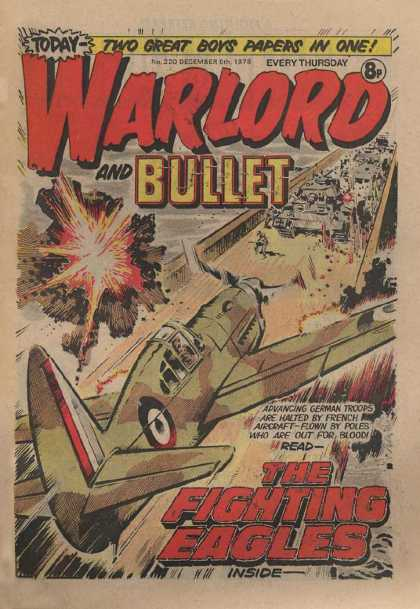 Warlord (Thomson) 220 - Bullet - The Fighting Aces - French Aircraft - German Tanks - Bridge