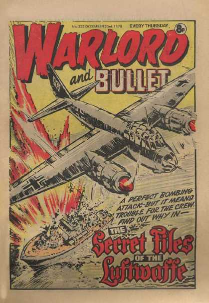 Warlord (Thomson) 222 - Airplane - Boat - Secret Files - Explosion - Bullet