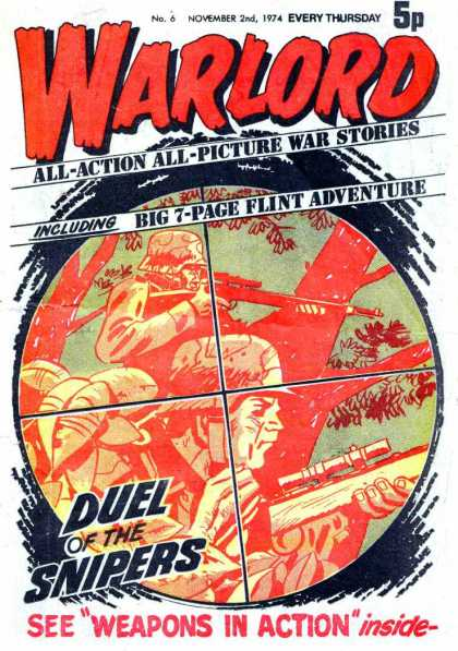 Warlord (Thomson) 6 - Vietnam War Comics - Duel Of The Snipers - Weapons In Action - Picture War Comics - Flint Adventure