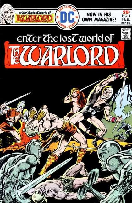 Warlord 1 - Swords - Combat - Men And Women Fighting - Amour - Lost World - Bart Sears, Mike Grell