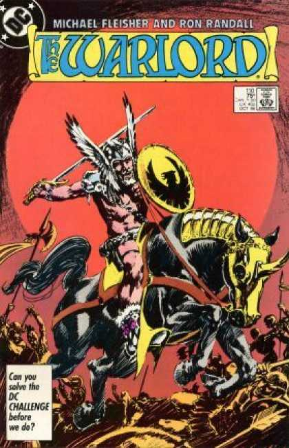 Warlord 110 - Michael Fleisher - Ron Randall - Approved By The Comics Code - Sword - Horse