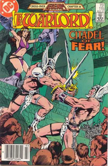 Warlord 115 - Winged Hat - Citadel Of Fear - Dc Comics - Chapter 16 - Legends Cross Over