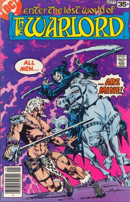 Warlord 14 - Enter The Lost World - Skeleton - Horse - Man - Sword - Mike Grell