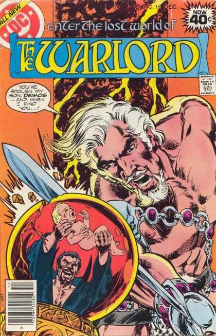 Warlord 16 - Deimos - Baby - Crystal Ball - Sword - Shirtless - Mike Grell