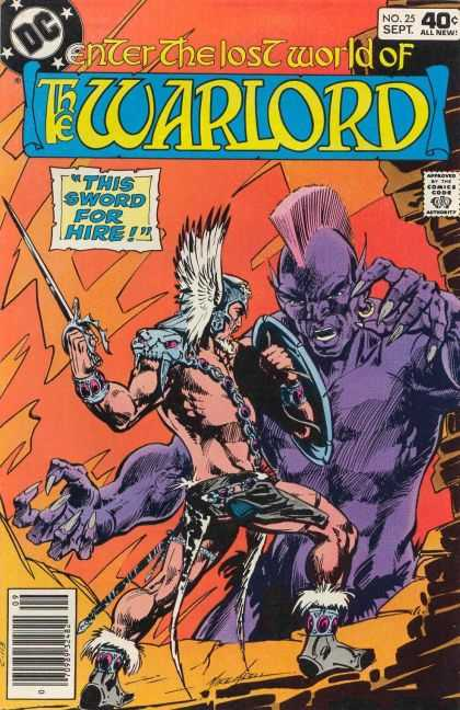 Warlord 25 - Lost World - This Sword For Hire - Sword - Shield - Chains - Mike Grell