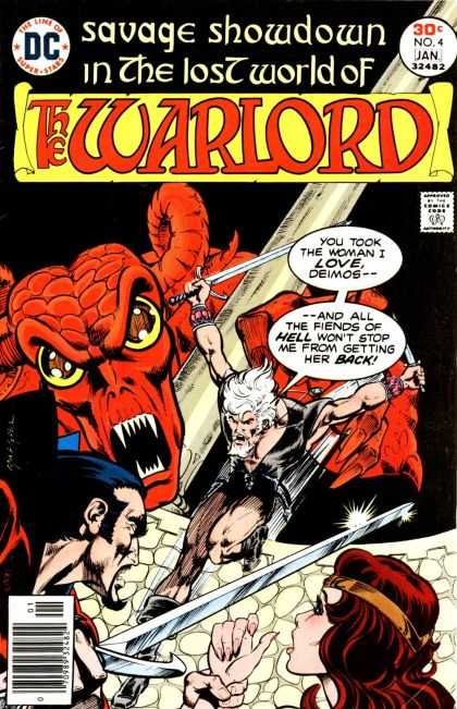 Warlord 4 - Sword - Devil - Horns - Bulging Eyes - Teeth - Bart Sears, Mike Grell
