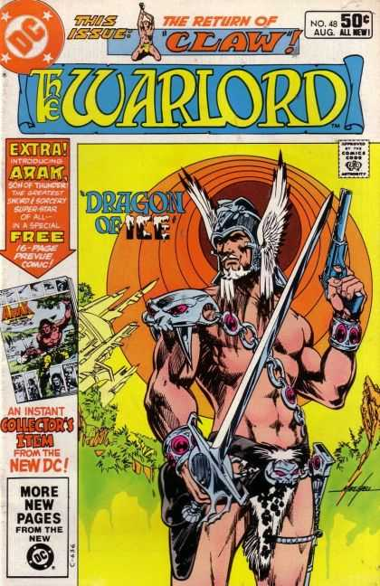 Warlord 48 - The Return Of Claw - Dc Comics - Sword - Winged Helmet - Dragon Of Ice - Mike Grell
