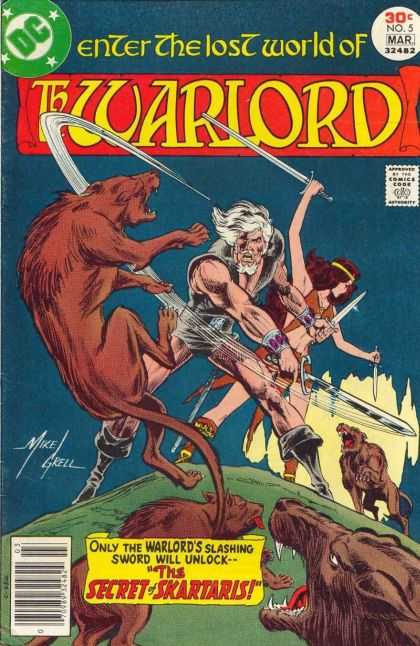 Warlord 5 - No 5 - The Secret Of The Skartaris - Swords - Wolves - Hill - Bart Sears, Mike Grell