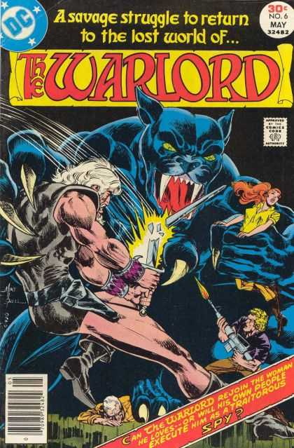 Warlord 6 - Savage - Fire - Weapons - Cat - War - Bart Sears, Mike Grell
