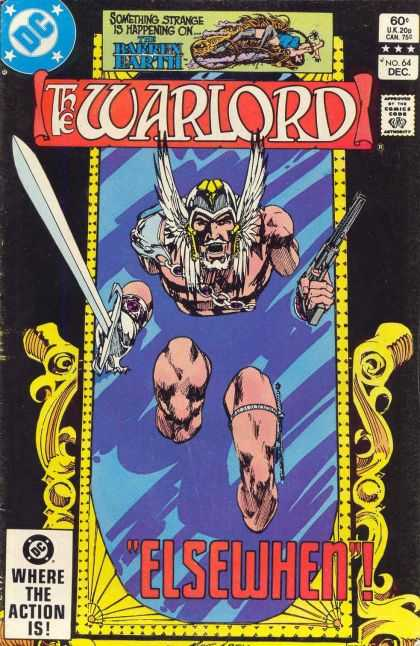 Warlord 64 - Mercury Wings - Gun - Viking Sword - Mirror - Number 64 - Mike Grell