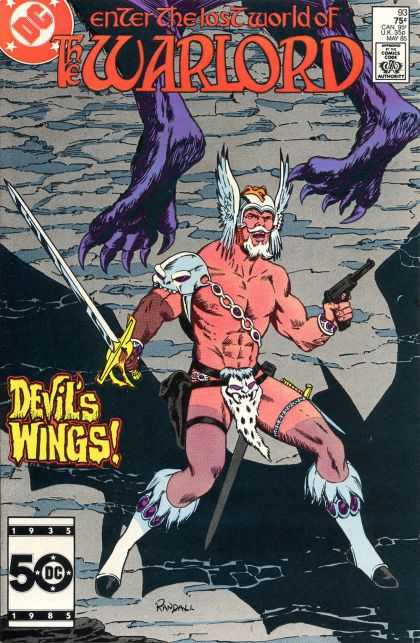 Warlord 93 - Lost World - Dc Comics - Dwvil Wings - Gun - Sword