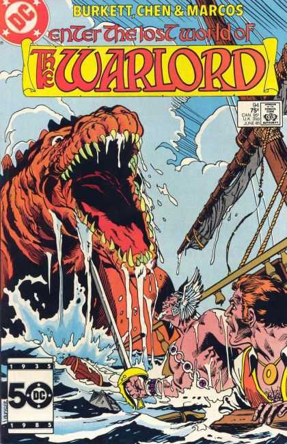 Warlord 94 - Dc - Dc Comics - The Warlord - Lost World - Dinosours