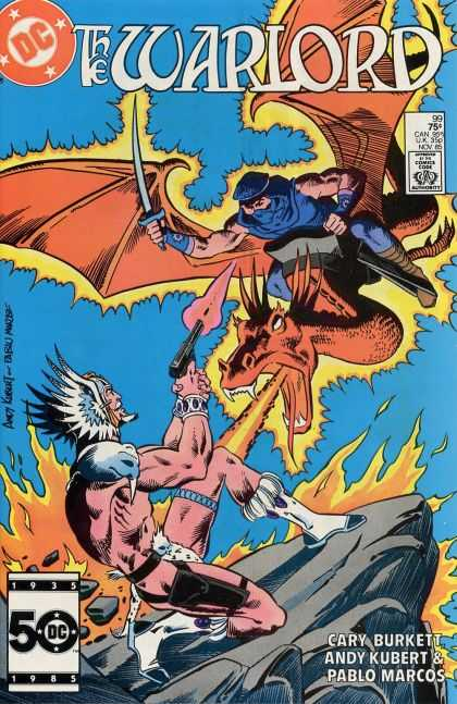 Warlord 99 - Dragon - Sword - Gun - Winged Helmet - Fire - Andy Kubert