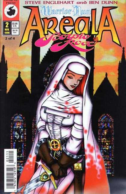 Warrior Nun: Scorpio Rose 2 - Church - Nun - Sword - Stained Glass - Blood