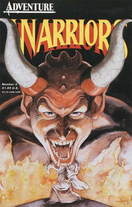 Warriors 3 - Adventure - Horned Head - Pointed Teeth - Fire - White Robe